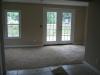 Living room with deck doors