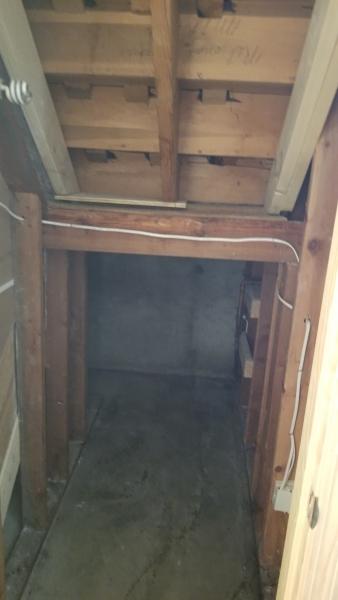 Down stairs closet